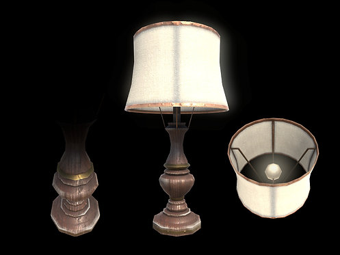 Edwardian Lamp (With LOD)