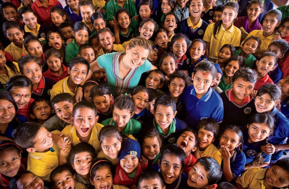 Maggie Donne, Nepali school, BlinkNow