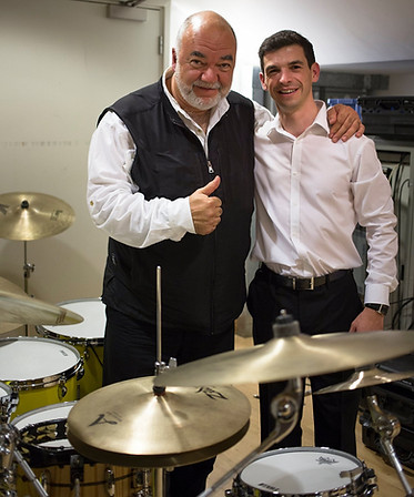 Drum tech for Peter Erskine