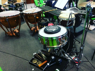 West Side Story percussion set up