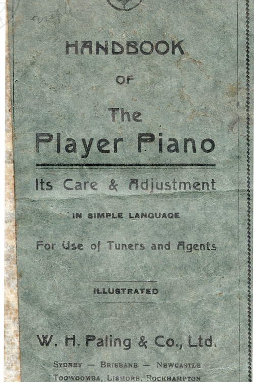 HAND BOOK OF THE PLAYER PIANO