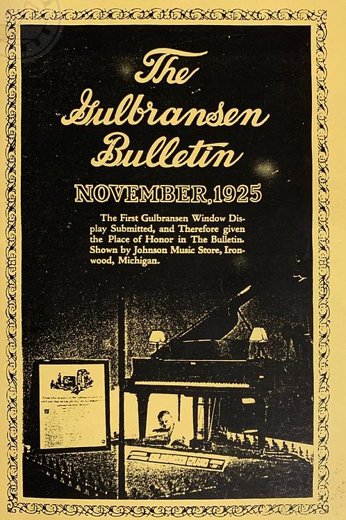 GULBRANSEN BULLETIN  1925