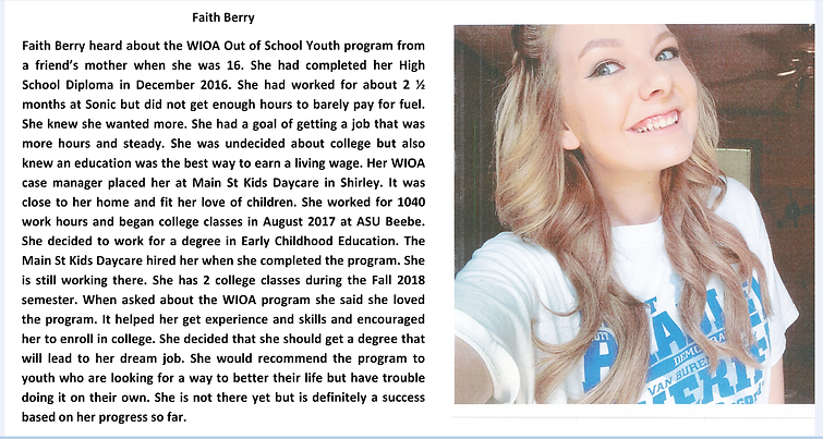 Faith Berry Success Story