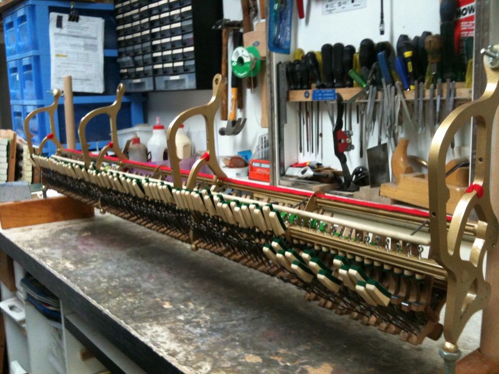 Steinway piano action/mechanism