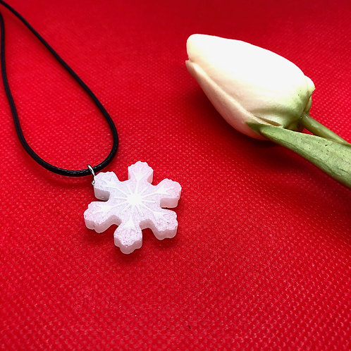 Snowflake Christmas Pendant - Medium Flower shape