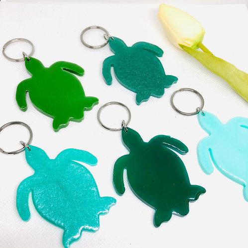 Large Turtle Resin Keyrings