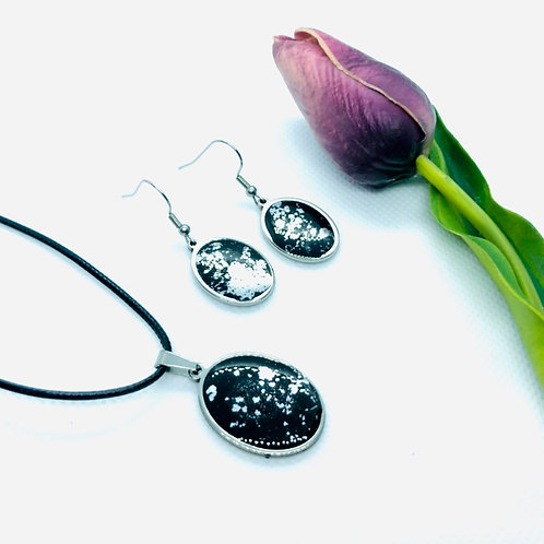 Stainless Steel Resin Oval 2 piece set