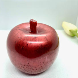 7.5cm x 7cm Resin Apple - $60