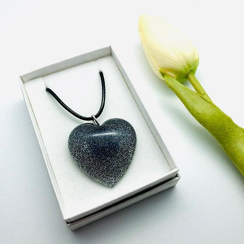 Heart Glitter Resin Pendant