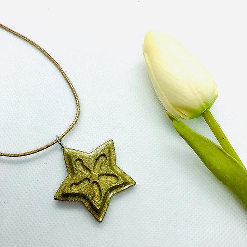 Gold Star Christmas Pendant