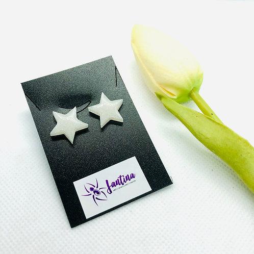 Glitter Small Star Studs