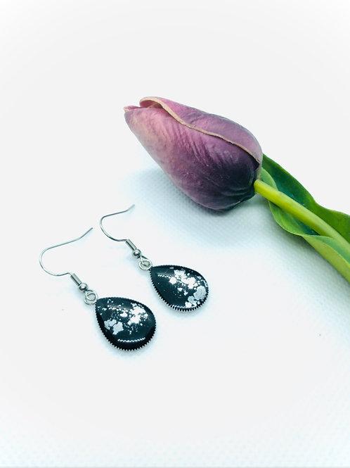 Stainless Steel Teardrop Drop earrings