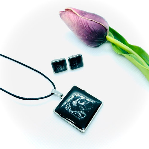 Stainless Steel Resin Square 2 piece set