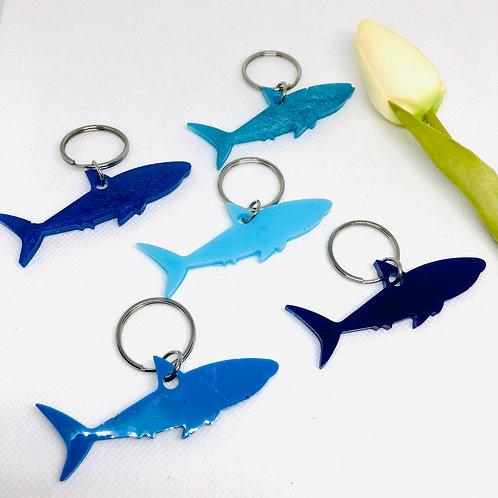 Large Shark Resin Keyring