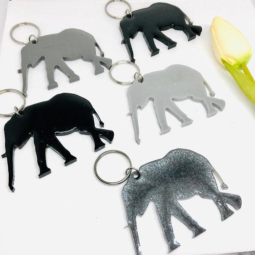 Large Elephant Resin Keyring