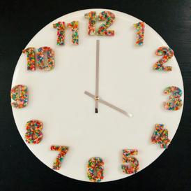 40cm round 100's & 1000's clock - $250-