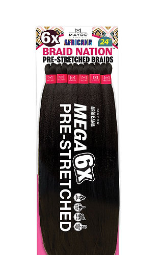 """6X BRAID NATION 24"""""""