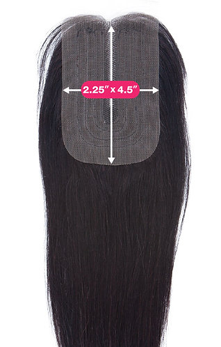 "2.25""X4.5"" LACE PART CLOSURE-STRAIGHT 12"""