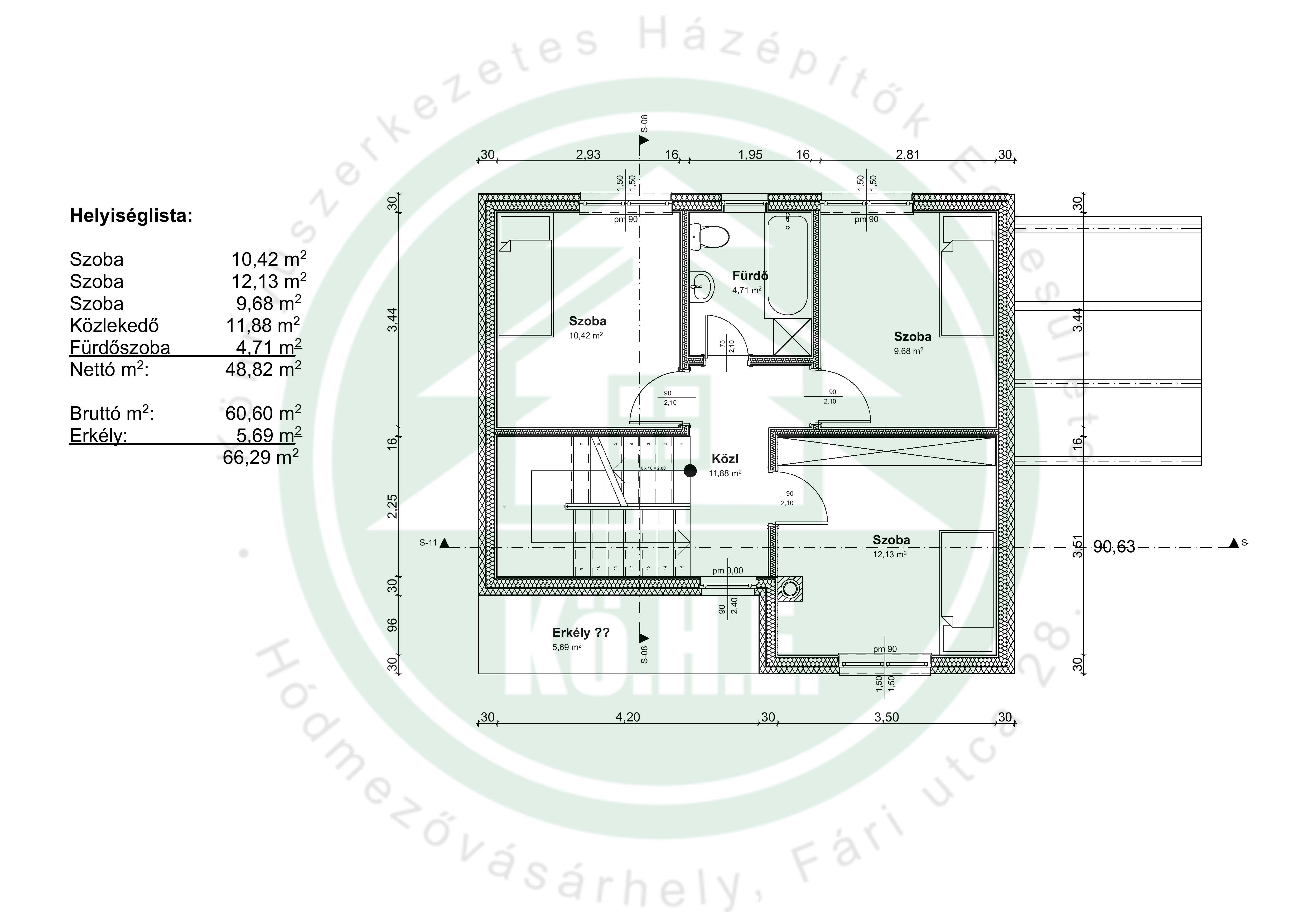 CSOK Könnyűszerkezetes ház alaprajz