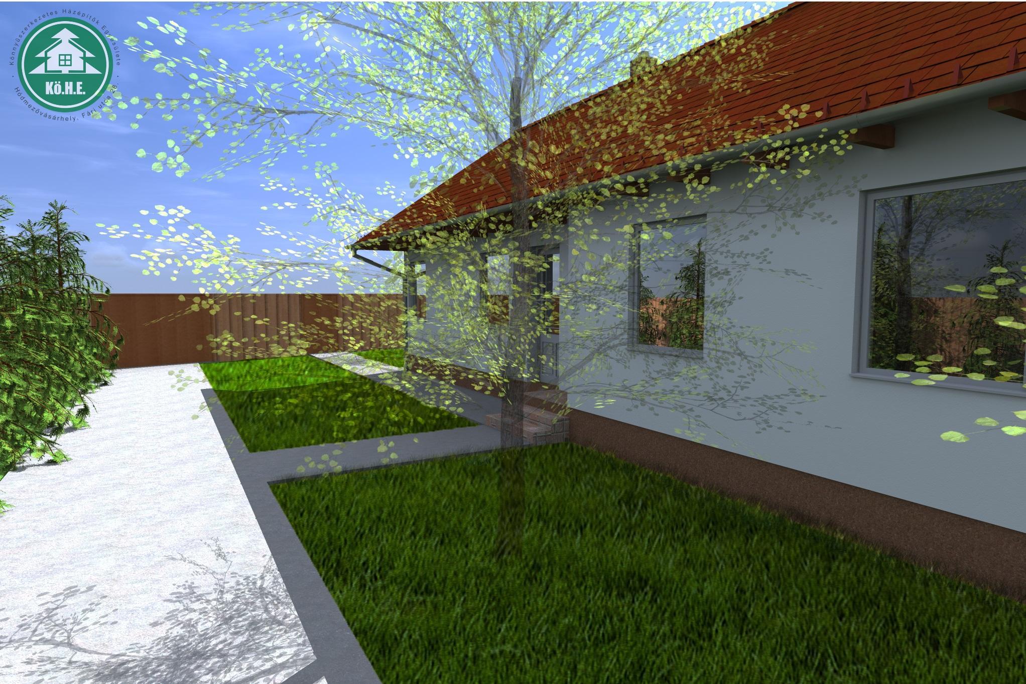 Könnyűszerkezetes ház látványterv