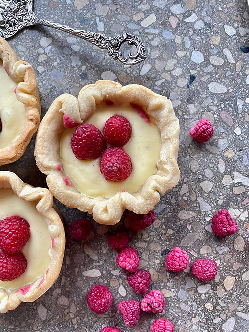 Almond Raspberry Cream Tart box of 3