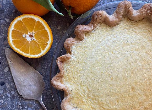 Orange White Chocolate Custard Pie