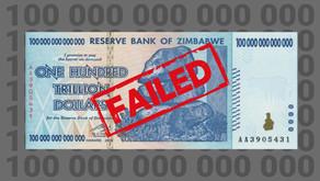 The failed 100 trillion dollar bill