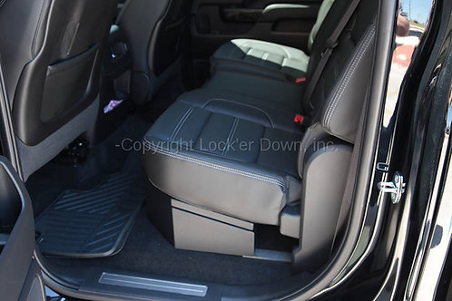 SUVault® | 2007-2018 Silverado / Sierra Crew Cab | Under Seat Long Gun Safe
