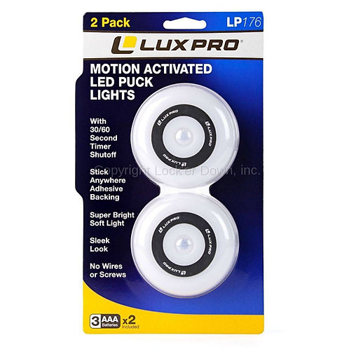 Lux Pro | Motion Activated LED Puck Lights 2-PK