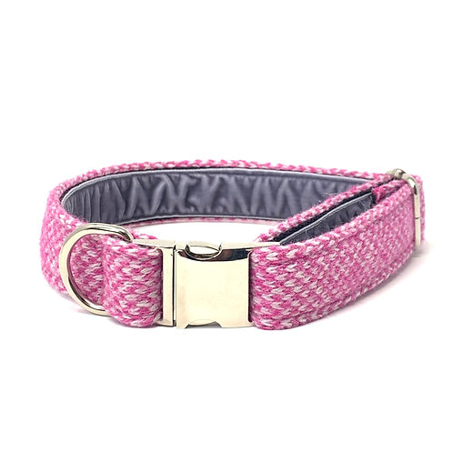 Pink & Dove - Harris Design - Dog Collar