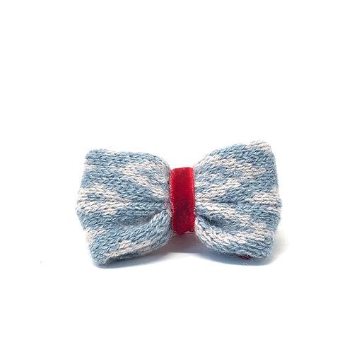 Handmade Dog Bow Tie - Blue & Dove - Barclay Design