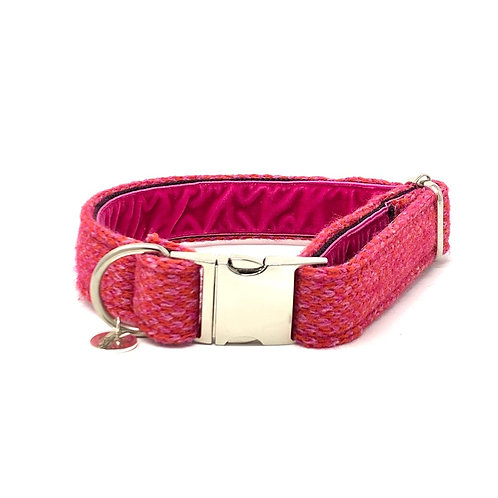 Geranium & Pink - Harris Design - Dog Collar