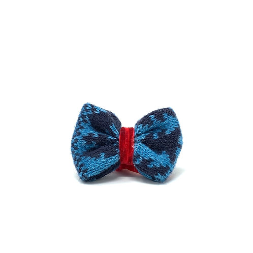 Handmade Dog Bow Tie - Blue & Navy - Kerr Design