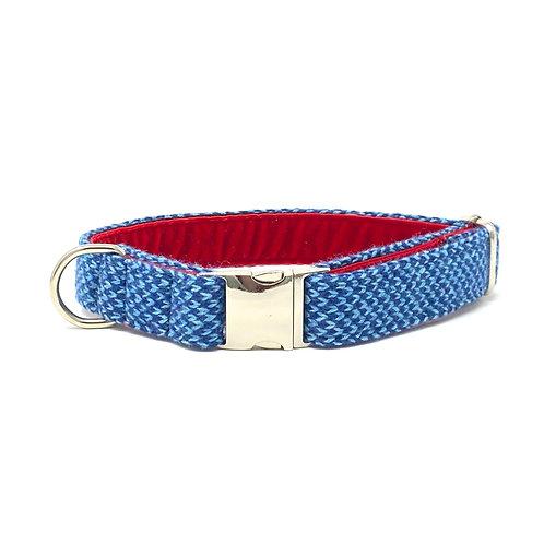 Turquoise & Royal Blue - Harris Design - Dog Collar