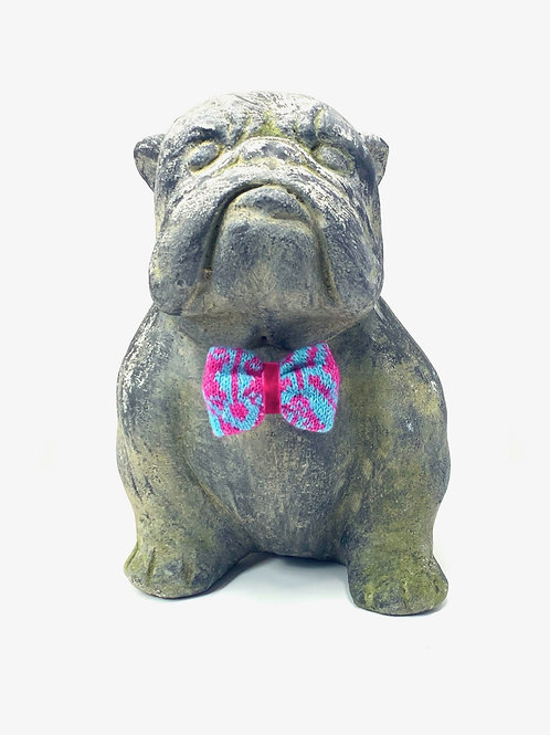 Turquoise & Pink - Kerr Design - Dog Bow Tie
