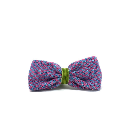 Handmade Dog Bow Tie - Pink & Turquoise - Harris Design
