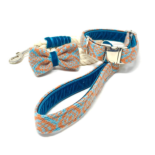 Orange & Turquoise - Barclay Design Bundle with Rope Lead