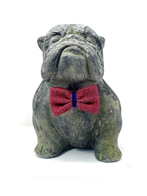 Geranium & Purple - Harris Design - Dog Bow Tie