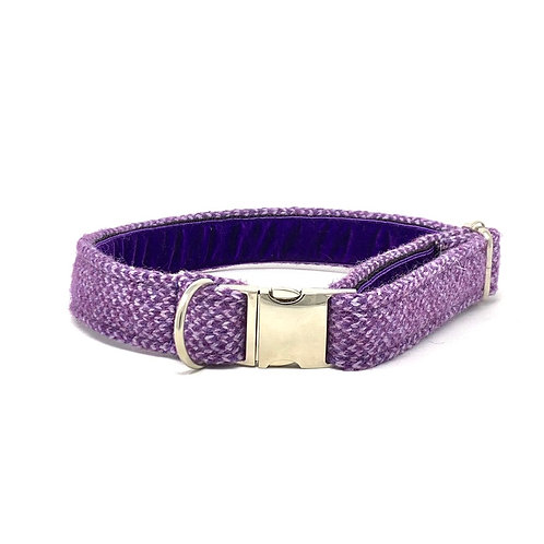 Purple & Lilac - Harris Design - Dog Collar