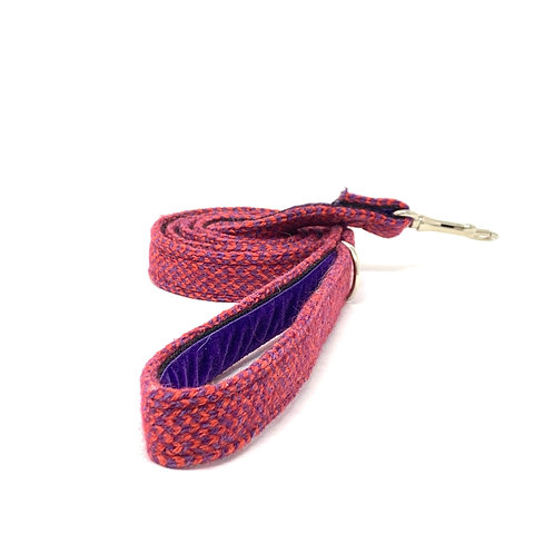 Geranium & Purple - Harris Design - Dog Lead