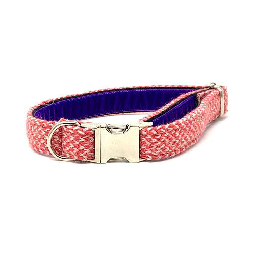 Geranium & Dove - Harris Design - Dog Collar