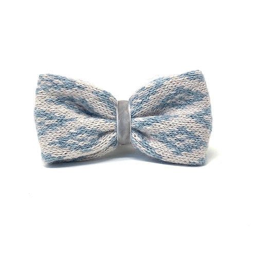 Handmade Dog Bow Tie - Dove & Blue - Barclay Design