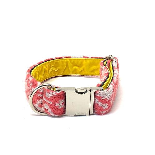 Handmade Dog Collar - Geranium & Dove - Kerr Design