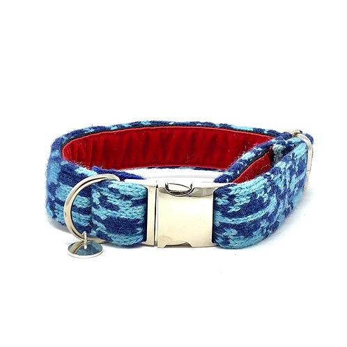 Royal Blue & Turquoise - Kerr Design - Dog Collar