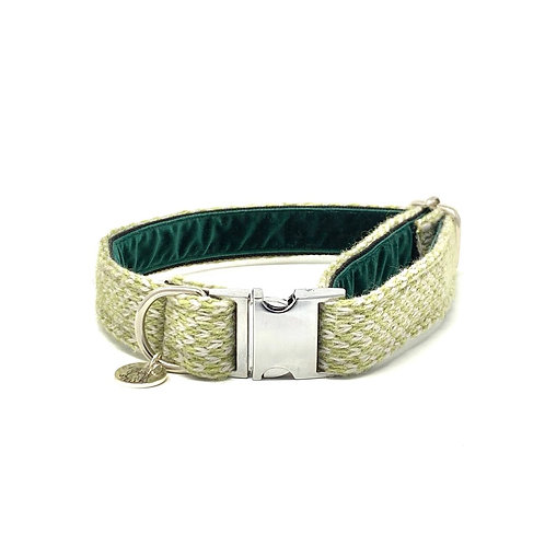 Green & Dove  - Harris Design - Dog Collar