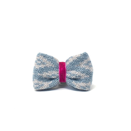 Handmade Dog Bow Tie - Blue & Dove - Barclay Design