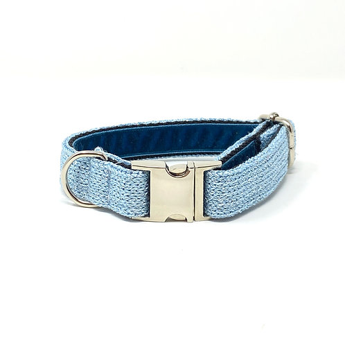 Blue Sparkle - Block Design Dog Collar