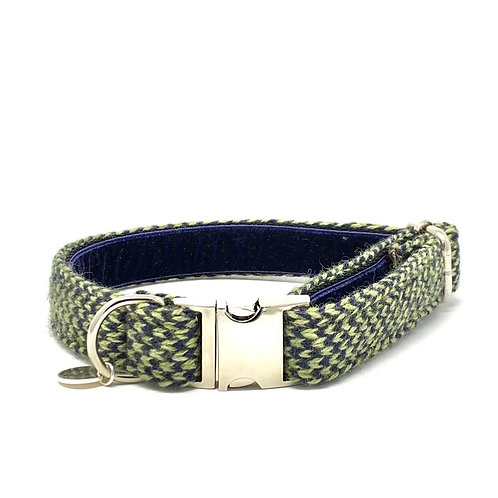 Green & Navy - Harris Design - Dog Collar