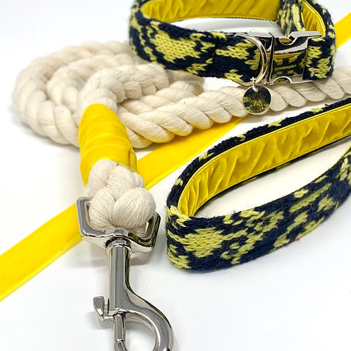 Black & Yellow - Kerr Design Bundle with Rope Lead