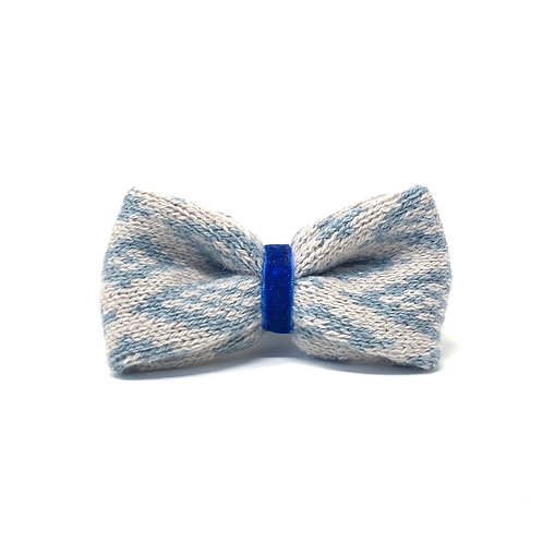 Handmade Dog Bow Tie - Dove & Blue - Barclay Design